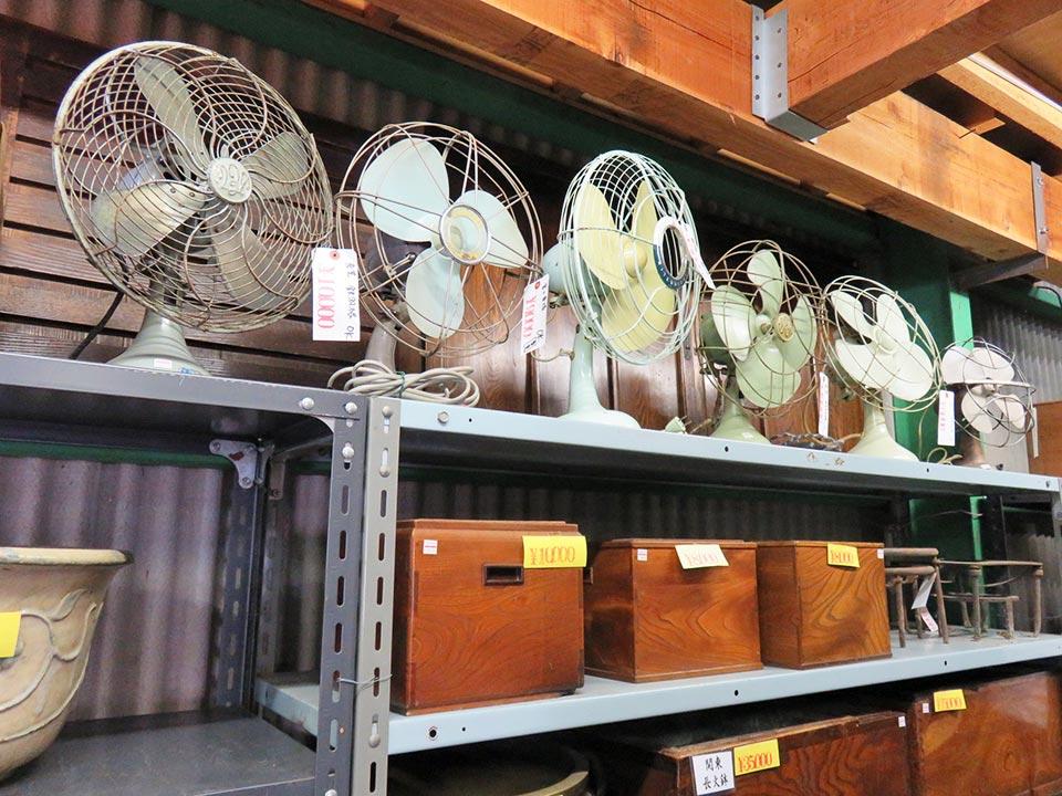 レトロな扇風機いろいろ…ですが、ほとんど売切れました!