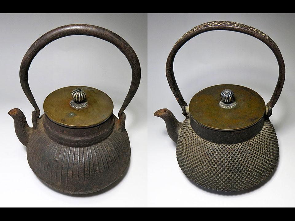 大人気の古い鉄瓶も新入荷! ※右の鉄瓶は売切れました。